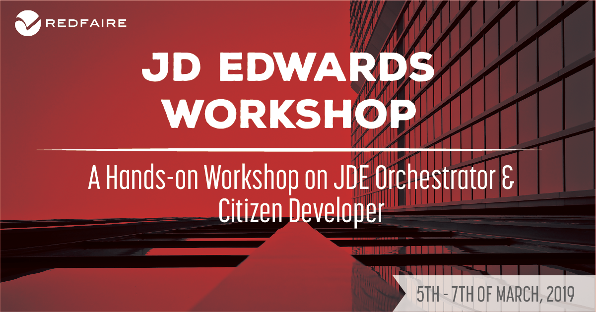 March 5th - 7th | JDE Citizen Developers & Orchestrator Training Image