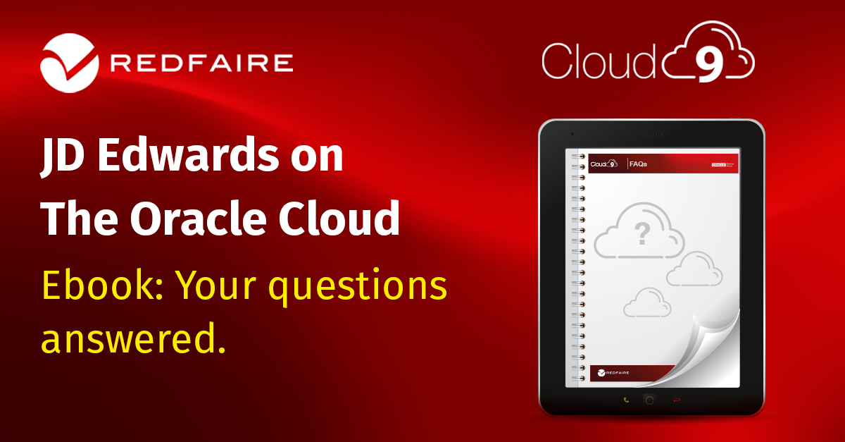 Redfaire : Time to Move JD Edwards to the Oracle Cloud
