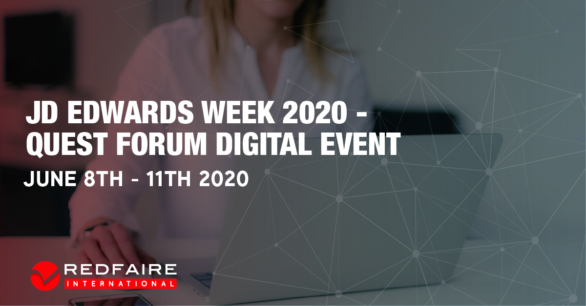 JD Edwards WEEK JUNE 2020 - QUEST FORUM DIGITAL EVENT Image