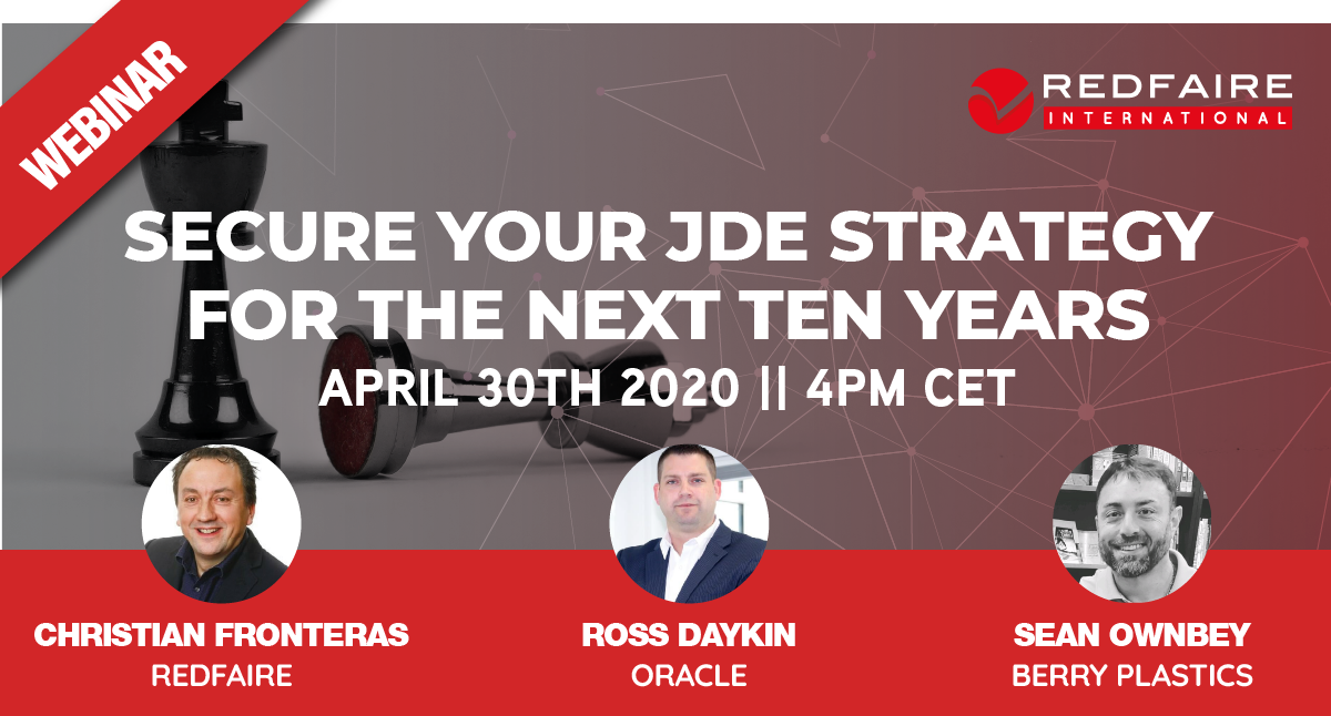 Redfaire International Webinar | Using Cloud to Secure Your Future with JDE Image
